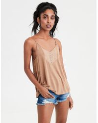 bc8e4d620cc Lyst - American Eagle Ae Soft & Sexy Long-sleeve Favorite T-shirt in ...