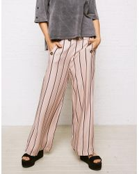 American Eagle - Don't Ask Why Wide Leg Button Front Trousers - Lyst