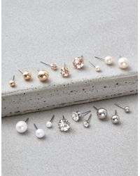 American Eagle - Crystal & Pearl Studs Earrings 18-pack - Lyst