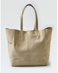 American Eagle - Wander Leather Large Tote - Lyst