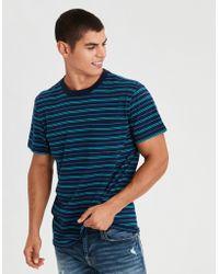 American Eagle - Ae Striped Pocket T-shirt - Lyst
