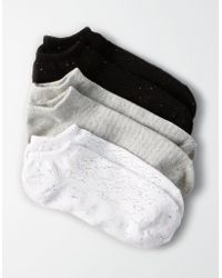 American Eagle - Speckled Shortie Socks 3-pack - Lyst