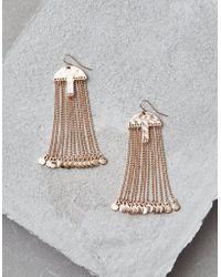 American Eagle - Gold Metal Chain Duster Earrings - Lyst