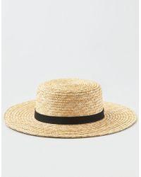 American Eagle - Wide Brim Straw Boater Hat - Lyst