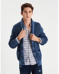American Eagle - Ae Washed Shawl Cardigan - Lyst