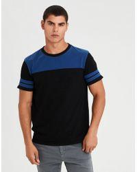 American Eagle - Ae Colorblock Football T-shirt - Lyst