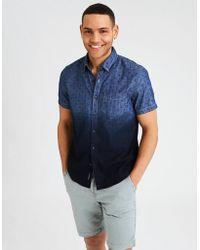 American Eagle - Ae Dip Dye Chambray Button-down Shirt - Lyst