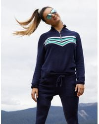 American Eagle - Sporty Stripe Quarter Zip Sweater - Lyst