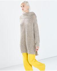 Zara Twist Knit Turtleneck Sweater - Lyst