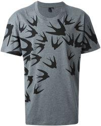 McQ by Alexander McQueen Swallow Print T-shirt - Lyst