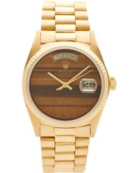 CMT Fine Watch And Jewelry Advisors - Vintage Rolex 18K Gold Tiger'S Eye Day-Date Watch - Lyst
