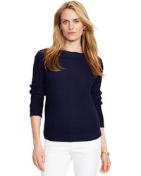 Pink Pony - Ribbed Cotton Boatneck Jumper - Lyst