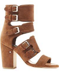 Laurence Dacade Suede Block Heel Sandals - Lyst
