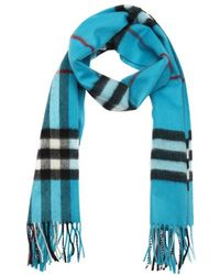 Burberry Celestial Check Cashmere Woven Scarf - Lyst