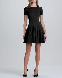 Halston Heritage Flare Skirt Ponte Dress - Lyst