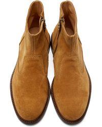 Carven - Cognac Suede Boots - Lyst