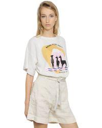 Etoile Isabel Marant Printed Heavy Cotton Sweatshirt - Lyst