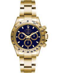 Bamford Watch Department - Super Matte Magnetic Gold Daytona with A Gold and Navy Blue Dial - Lyst