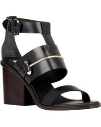 Balenciaga Pierced Ankle-strap Sandals - Lyst