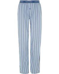 Calvin Klein Check Nightwear Pant - Lyst