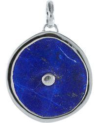 Monica Vinader - Silver Lapis Lazuli Atlantis Eye Pendant - Lyst