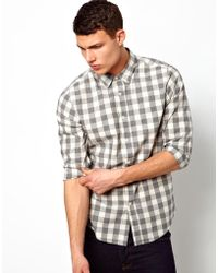 Asos Gingham Check Shirt In Long Sleeve - Lyst