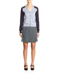 Marc Jacobs Silk Pleated Skirt - Lyst