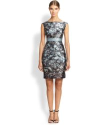 Kay Unger Ribbon-belt Dress - Lyst