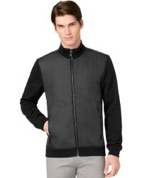 Calvin Klein Quilted Colorblock Jacket - Lyst