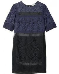 Rebecca Taylor Multi Patch Lace Dress - Lyst