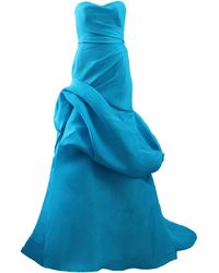 Monique Lhuillier Draped Ball Gown - Lyst