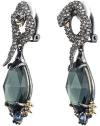 Alexis Bittar Coiled Serpent Clip Earring silver - Lyst