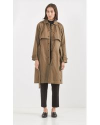 Current/Elliott The Storm Flap Trench green - Lyst