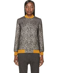 Roseanna  Leather and Lurex Fever Tommy Bomber Jacket - Lyst