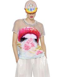 Manish Arora Embellished Crepe & Organza Top multicolor - Lyst