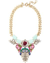 J.Crew Mint Stone Statement Necklace - Lyst