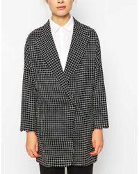 Fashion Union - Longline Jacket In Check - Lyst