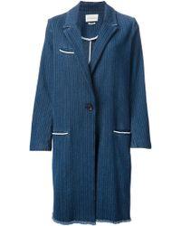 Etoile Isabel Marant Oversized Stitch Pattern Coat - Lyst