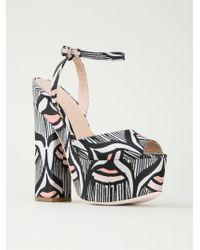Giamba Aztec Print Platform Sandals - Lyst