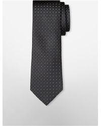 CALVIN KLEIN 205W39NYC - White Label Steel Black Glimmer Large Dot Tie - Lyst