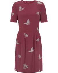 Hobbs Beating Butterfly Dress - Lyst
