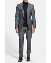 Hugo 'Aeron/Hamen' Trim Fit Wool Suit gray - Lyst