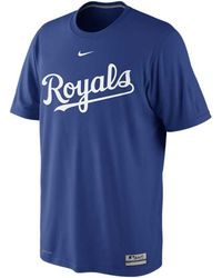 Nike Mens Shortsleeve Kansas City Royals Drifit Tshirt - Lyst