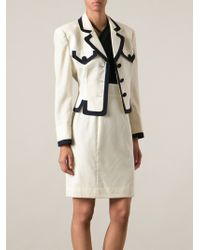 Moschino - Contrast Trim Skirt Suit - Lyst