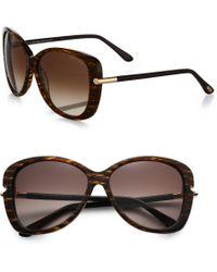 Tom Ford Linda Metal-Trimmed Square Sunglasses - Lyst
