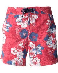 Woolrich - Floral Print Swim Shorts - Lyst