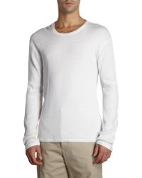 Vince Thermal Crewneck Tee - Lyst