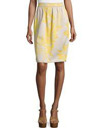 M Missoni Tropical-Print Pencil Skirt - Lyst