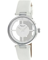 Kenneth Cole | Transparent Dial Leather Strap Watch | Lyst