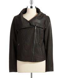 T Tahari Ingrid Leather Jacket - Lyst